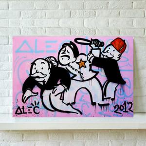 Alec Monopolys Абстрактная картина маслом искусства стены Плакат Холст Картина печати Картины для гостиной Home Decor