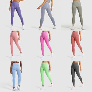 Women Sexy High Waist Yoga Pants Seamless Solid Sports Love Letter Leggings Running Fitness Gym Workout Push Up Sportswear#504