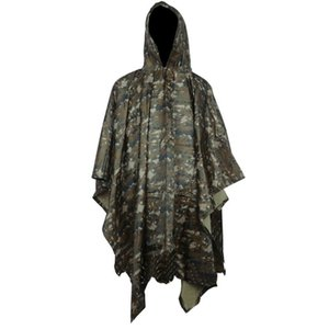 PVC Traveling Cycling Hooded Cape Waterproof Emergency Outdoor Shelter Poncho Raincoat Non-toxic Multifunctional Camping