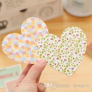 Wholesale 6 Styles Heart Shaped Greeting Card Invitation Wedding Decoration Cards Craft Birthday Party Christmas Decor Mothers Day Gifts
