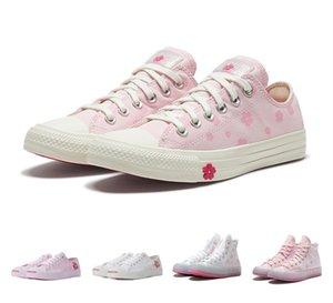 New Classic Golf Le Fleur x Chuck 70s Chenille Mens Womens Star Skateborad Shoes Fashion GLF 1970 High Cherry Blossom series Canvas Sneakers