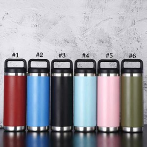 18oz Handle Stainless Steel Cup 6 Colors Double Wall Vacuum Beer Kettle Flasks Outdoor Camping Sport Bottles Sea Shipping LJJO8201
