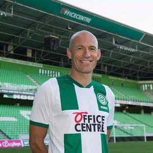 20-21 Groningen FC ev futbol Formalar 10. ROBBEN 2020 Erkekler futbol gömlek Yeşil beyaz Groningen Özelleştirilmiş Futbol Üniformalar 2020