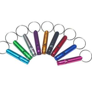 Metallpfeife Schlüsselanhänger Tragbarer Selbstverteidigung Keyrings Ringe Halter Mode Auto-Schlüsselanhänger Zubehör Outdoor Camping Überleben Miniwerkzeug