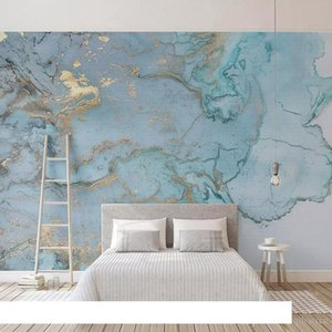 Custom Photo Wallpapers 3D Stereo Blue Texture Marble Wall Paper Murals Living Room TV Sofa Bedroom Study Decor