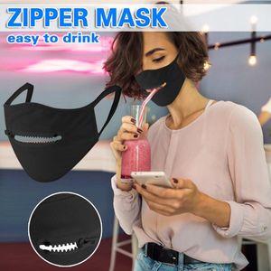 Adulte Masques Visage Masques Zipper lavable réutilisable de protection bouche YYA170 Masque Anti-poussière respirante vélo