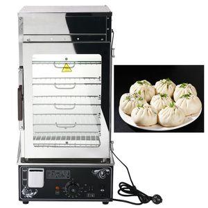 aço inoxidável Navio elétrico máquina de cabeça pão de vidro temperado cabeça bun comercial cabeça alimentos alimentos no vapor máquina de pão