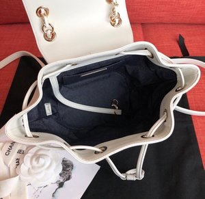 The new classic lady's handbag 7A high-end custom quality backpack fashion trend business casual style gold metal accessories with long shou
