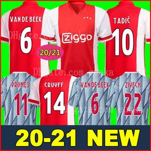 2019 AJAX home Soccer Jerseys رقم 21 DE JONG away قميص أياكس 19/20 # 10 TADIC # 4 DE LIGT # 22 ZIYECH
