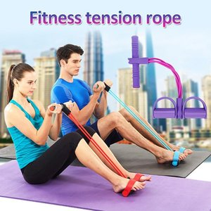 Stock Multi-Function Puller Pedals Elastic Rope Legs Expander Yoga Pilates Fitness Belt Slimming Tool Training Workout FY7009