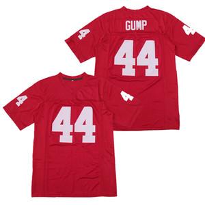 Forrest Gump # 44 Tom Hanks Alabama Hombres Película de fútbol Jersey Todo cosido rojo S-3XL de alta calidad