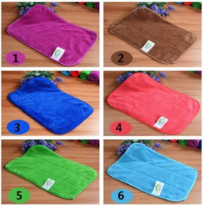 30*40cm Cleaning Towel Double Coral Wash Towel Velvet Polishing Drying Cloths Floor Car Rag Absorbent Rags 6 Color HH7-1824