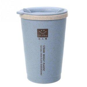 Viaggi 280ML doppia parete di isolamento tazza di grano in fibra di paglia tazza di caffè tazza a perfetta tenuta d'acqua della tazza Office Home Bicchieri