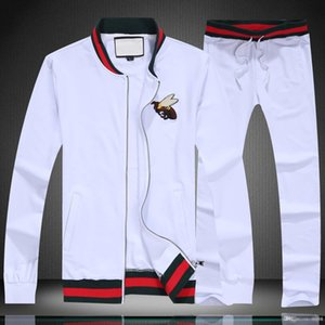 2020ss Mens Designer Tracksuits Autumn and Winter High Quality Men's Cotton Comfortable Slim Hooded Cardigan Jacket Two-piece Suit