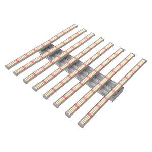 양자 플레이트 조명 조광 640W 스파이더 8 바 전체 스펙트럼 삼성 LM2835 보드 LED는 리모콘 실내 식물 라이트 바 성장