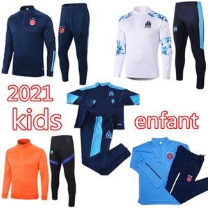 2020 2021 Ajax enfants le football Survêtement veste 20 21 Survêtement soccer marseille NERES TADIC PAYET BENEDETTO survetement chandal footing
