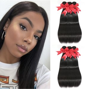 Moxika Straight Hair Bundles With Frontal Peruvian Straight Hair 360 Frontal with Bundles Human Hair 3 Bundles with Closure