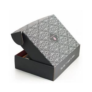 Alta qualidade de papelão personalizado tuck caixa de transporte cor média pesados maior praça com caixa de transporte cabelo rosa tecido