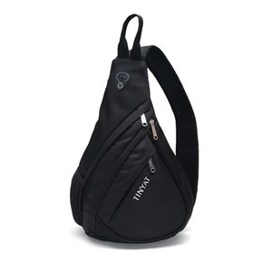 Tinyat male chest bag Korean version of the casual shoulder drop bag enlarged version of the triangle belt USB charging interface