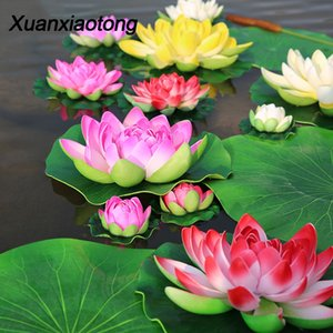 Real Touch Floating Water Lotus Artificial Flowers for Wedding Home Party Decorations Water Lily Mariage Fake Flower Decor