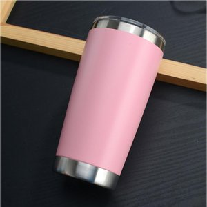 20oz Tumbler Double Wall Wine Glass Stainless Steel Thermal Coffee Cup Beer Cups With Seal Lid Straight Mugs with SEA SHIPPING CCA12213