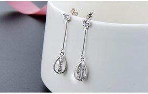 783 Top quality S925 sterling silver women's drop earrings women's silver earring cubic zirconia earring silver CZ tassle earrings DDS