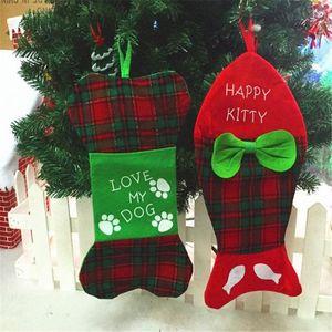 Meias Christmas Gift Bag Decor Suprimentos Titulares ornamento Sock Meia do Natal Decoração Ano Novo decoração para a casa 30S16 JXMc #