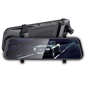 10 pouces Rearview Mirror Recorder Cloud HD Driving Mirror avec commande vocale voiture Android Navigator Bluetooth