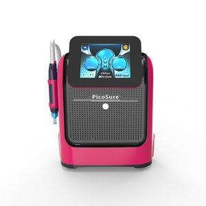 Machine Picolaser portable avec quatre têtes 755nm 532nm 1064nm 1320 nm pelage carbone laser facial pores déplacement de tatouage eye-liner laser shrinker