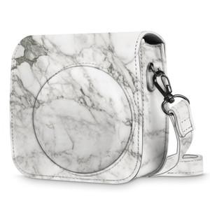 marbre populaire créateur de mode imprimé écharpe sac à bandoulière appareil photo PU cuir pour Fujifilm Instax Mini 11