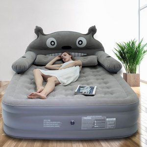 Cartoon Inflatable Sheets Double Increase Thick Air Cushion Outdoor Portable Bed Air Mattress Hiking And Camping Camping & Hiking Fami qaPJ#