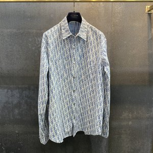 2020 Fall fashion new mens casual shirt high-quality letter jacquard design very beautiful loose version US size mens designer shirts