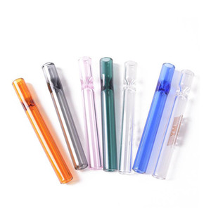 Colorful Thick Pyrex 4inch One Hitter Bat Cigarette Holder Glass Steamroller Pipe Filters for Tobacco Dry Herb Oil Hurner Hand Pipes AC1154