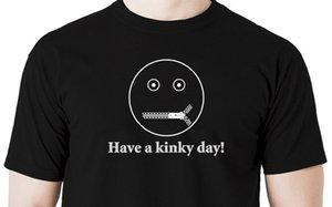 Tops Cool Summer T-shirt drôle Ayez un jour Kinky T-shirt Masque Capuche Visage Gimp fetish BDSM Menottes Shabari été de style T