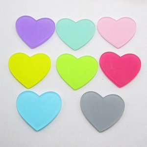 32pcs lot 3*2.6cm Acrylic Heart Decoration Crafts Cabochon Flatback Scrapbooking For Embellishments Kawaii DIY Accessories