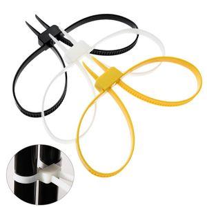 5Pcs Hot Durable12mmx700mm 12x700 12 * 700 manette di plastica doppie risvolto del flesso monouso Manette fascetta fascette in nylon