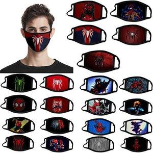 Ev 3D Baskı Tasarımcısı Yüz From Hızlı Kargo Örümcek Adam Far Pamuk Yeniden kullanılabilir Yüz Maskeleri Dış Mekan Spor Binme Parti Maskeler Maske