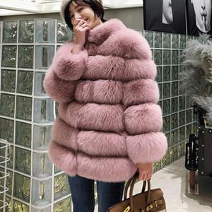 Fashion Warm Winter Coat Women Winter Jacket Women Faux Fur Coat Long Winter Rabbit Fur Coats Plus Size Imitation Fox Fur Coat T191108