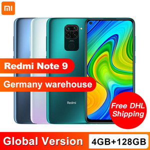 "2020 Global Versión Xiaomi redmi Nota 9 Cámara 4 GB 128 GB Smartphone Helio G85 Octa Core Quad 48MP trasera 6,53"" DotDisplay 5020mAh"