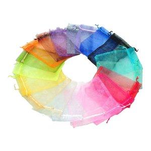 선물 포장 100pcs 10x15cm 혼합 색상 Organza 쥬얼리 현재 X-Mas 파우치 가방
