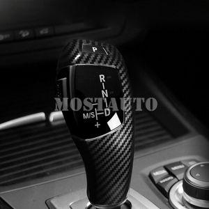 Para BMW X5 E70 E71 X6 2008-2018 2008-2018 2013-2016 X4 X3 2011-2016 ABS fibra de carbono de accesorios de coches Gear Shift Knob ajuste de la cubierta