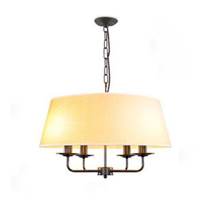 Fabric Drum Shade Chandelier Pendant Lamp Living Room Dining Room Bedroom Ceiling Light Decor Fixture PA0396