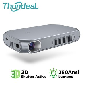 Thundeal T15 Mini DLP Wifi Android opcional Bluetooth Active Shutter 3D Suporte Full HD 1080p Pico Smart TV Led Beamer T190620