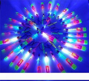 Dell'elicottero della freccia rotante giocattoli volanti UFO dello spazio LED luci di Natale Bambini novità del regalo di bambini giocattoli volanti