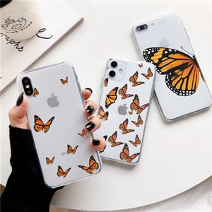Clear Monarch Butterfly Phone Case For iPhone X XS Max Xr 11 pro 5 5S SE 8 76 s Plus INS Premium Ins Soft Fundas Cover Coque