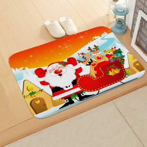 Santa Claus Christmas Flannel Carpet Merry Christmas Decoration for Home Christmas 2020 Gift Xmas Decor Kerst New Year
