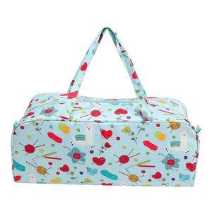 Örgü Çanta İplik Taşınabilir Dayanıklı Depolama Bez Organizatör Örme İğneler Malzemeleri Hediyeler Hafif Tasarım T200619