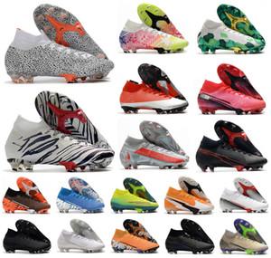 2020 Mercurial Superfly VII 7 360 Elite SE FG CR7 SAFARİ Ronaldo Neymar NJR Erkek Erkek Futbol Ayakkabı Futbol Boots Kramponlar US3-11.