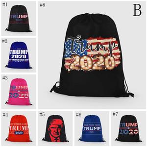 Trump Llama la cuerda Bolsas 24 Estilos bolsa de almacenamiento 2020 EE.UU. Patrón Presidencial campaña electoral Trump Bolsa de la compra Bolsa de playa EEA1851