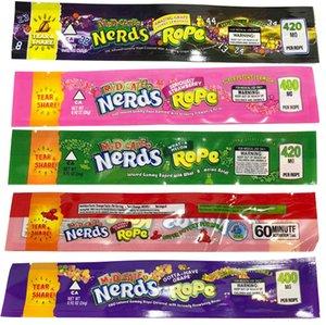 Nerds Rope Candy Bag 420 Infundiertes Gummy Roped 6 Styles Edibles Verpackung für trockene Kräuter Blume Neueste Ecig Pakete